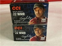 400rds CCI 22wmr 40gr Jacketed Hollow Point