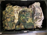 Tote of Camoflauge Clothes