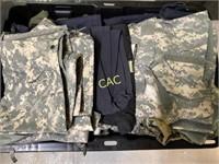 Box Lot of Camo Clothing