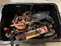 Box Lot of Slings and Holsters