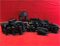 Box Lot of Asst Binoculars