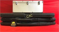 3pc Rifle Cases & Silver Carrying Case