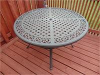 Metal Round Patio Table