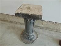 """Concrete Statue Stand - 24"""" High"""