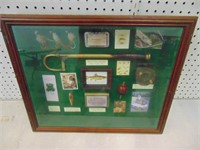Antique Fishing Display Case - 21 x 17