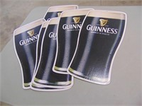 6 Guiness Cardboard Beer Signs - 20 x 10