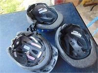 Various Size Bicycle Helmets