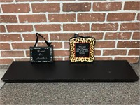 Decorative Shelf and Small Signs