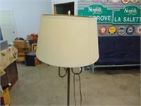 "Decorative Brass Corner Lamp - 48"" High"