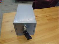 Small Steel Lock Box - 13 x 7 x 7