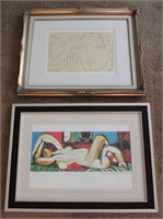 2 Pablo Picasso and Rembrant Print