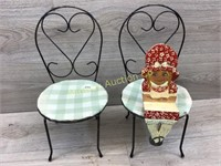 PAIR OF DOLL SIZE ICE CREAM CHAIRS