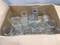 2 BOXES OF VARIOUS CANNING JARS/ QUARTS AND PINTS