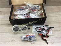11 PAIRS OF SAFETY GLASSES