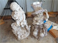 Resin Boy & Girl Yard Statues