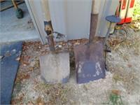 Square Nose Shovel & Round Nose Shovel