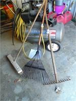 Leaf Rake, Yard Rake & Push Broom