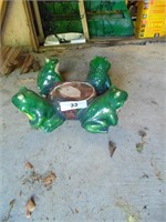 Frog Plant Pot Stand