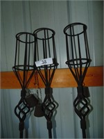 (3) Metal Torches