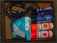 Spray Paint, Bungees, Epsom Salt