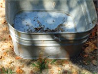 Square Galvanized Wash Tub - No Legs