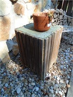 (2) Wood Slat Table/Plant Stands