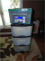 3 Drawer Rolling Plastic Storage Cubby &