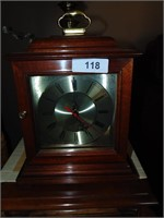 Wooden Box Clock - Battery Operated & Candle Decor