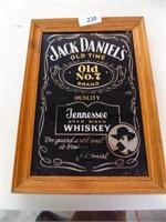 Jack Daniels Framed Glass Sign