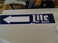Miller Lite Metal Arrow Sign