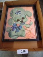 (2) Poodle Prints
