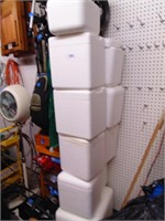 (10) Small Styrofoam Coolers