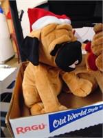 (2) Christmas Plush Dogs