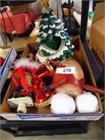Christmas Decorations - Batt Op Train & Tree