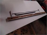 Wooden Level, Pinch Bar, Kingpin Lock Handle