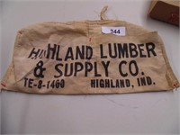 Highland Lumber & Supply Co Highland IN Nail Pouch