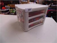 Sterilite 3 Drawer Desktop Storage w/ Craft Items