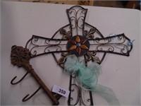 Wall Cross & Key Hook