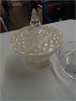 Glass Juicer & Lidded Candy Jar