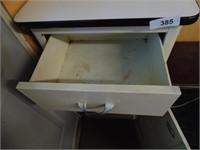 Vintage Metal Cabinet w/ Enamel Top