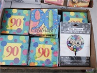 90th Birthday Party Supplies Lot
