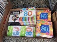 80th Birthday party supplies lot