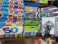 50th birthday party supplies lot
