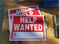 3 Help Wanted Signs