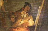 Ethnic Man Painting Oil Painting