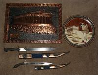 Greek lot incl. 1921 Greece Knife w/ Sheath.