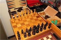 Chess Board w/ Extra Sets of Chess Pieces