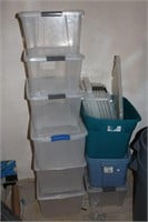 Lot of Storage Totes