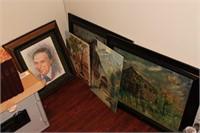 Artwork lot incl. 5 Paintings