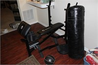 Weight Equipment incl. Heavy Bag and Weight Bench